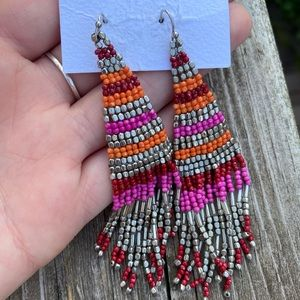 Francesca's beaded chandelier earrings!